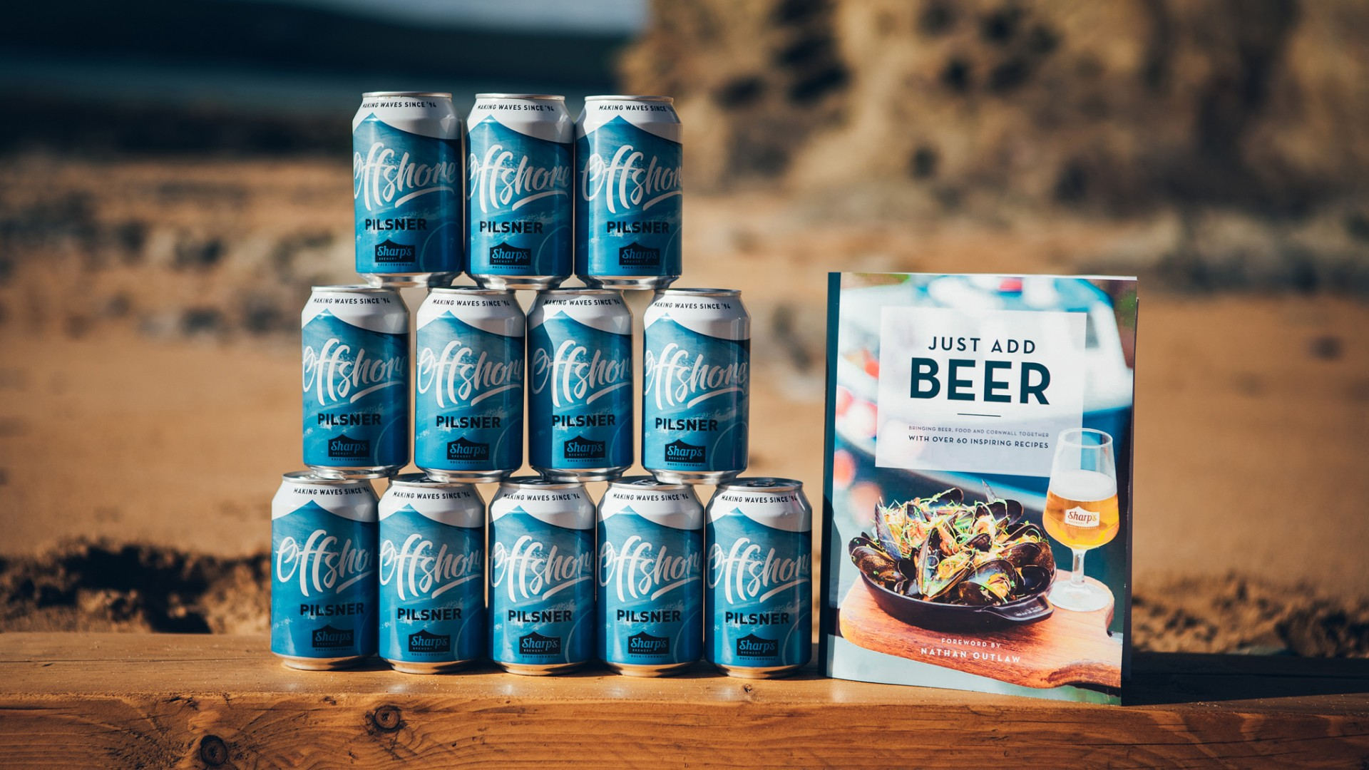 Sharp's Offshore pilsner and cookbook